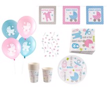 Babyshower - Tiny Feet tema pakke