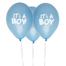 Balloner It's A boy 8 stk. - Little Star Blue