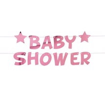Banner, Baby Shower - Little Star Pink