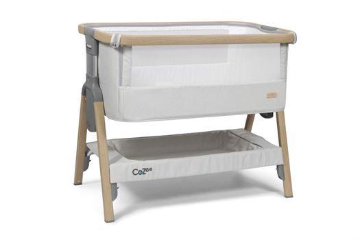 Image of   Bedside Crib CoZee® grå med Eg - Tutti Bambini