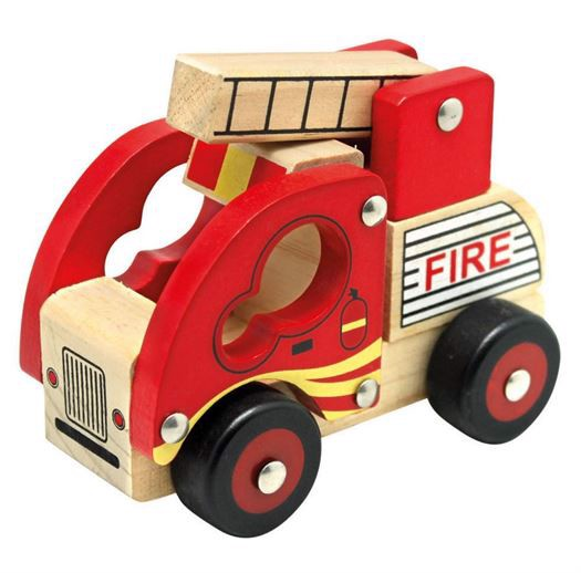 Image of   Brandbil i træ - Bino Toys