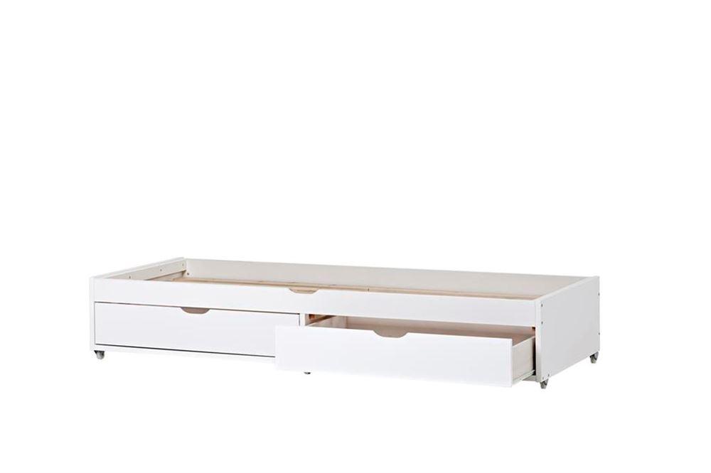 seng 190 cm Udtræksseng DELUXE Hoppekids   gæsteseng og 2 skuffer til opbevaring seng 190 cm