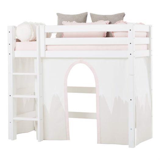 Image of   Forhæng, Winter Wonderland til mellemhøj seng 160 cm - Hoppekids