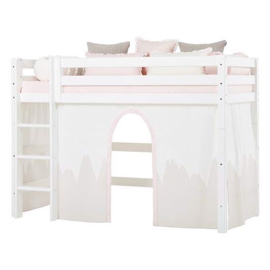 Image of   Forhæng, Winter Wonderland til mellemhøj seng 200 cm - Hoppekids