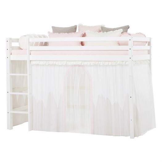 Image of   Forhæng med tyl, Winter Wonderland til mellemhøj seng 200 cm - Hoppekids