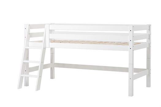 Image of   Halvhøj seng delbar, m. skrå stige, Premium 90x200 cm - Hoppekids