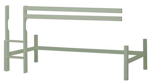 Halvhøj modul basic 90x200 cm, Pale Green - Hoppekids thumbnail