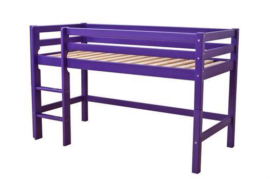 Image of   Halvhøj seng, basic delbar 160 cm, Lilla - Hoppekids