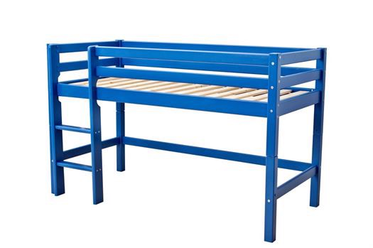 Image of   Halvhøj seng, basic delbar 160 cm, Blå - Hoppekids