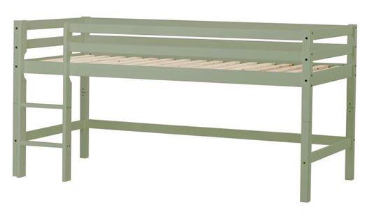 Image of   Halvhøj seng, basic delbar 200 cm Pale Green - Hoppekids