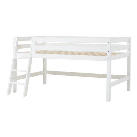 Halvhøj seng delbar, m. skrå stige, Premium 120x200 cm - Hoppekids thumbnail