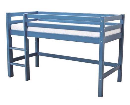 Image of   Halvhøj seng, basic delbar 200 cm, Blå - Hoppekids