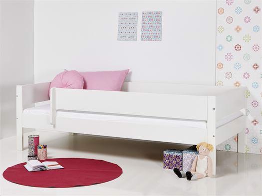 Image of   Huxie Manis-h seng med sengehest og lilla madras - 160 cm