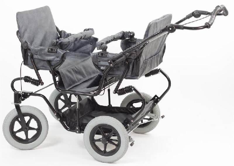 3772d5924b5 Condor Quattro - Klapvogn til 4 børn - klapvognen har servostyring ...