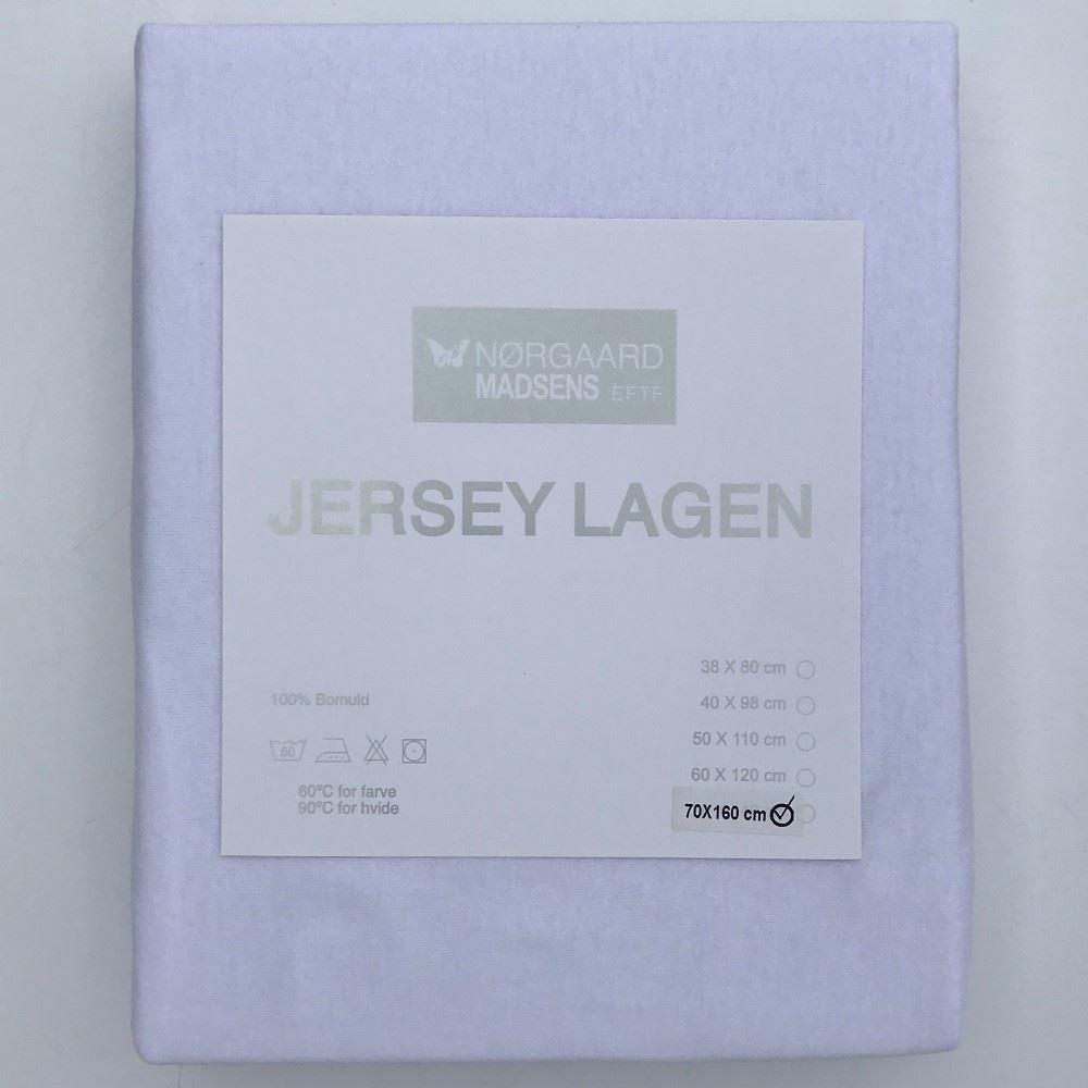 Lækker Stræklagen, hvid 70x160 cm - Dejligt lagen Nørgaard Madsen IO-59