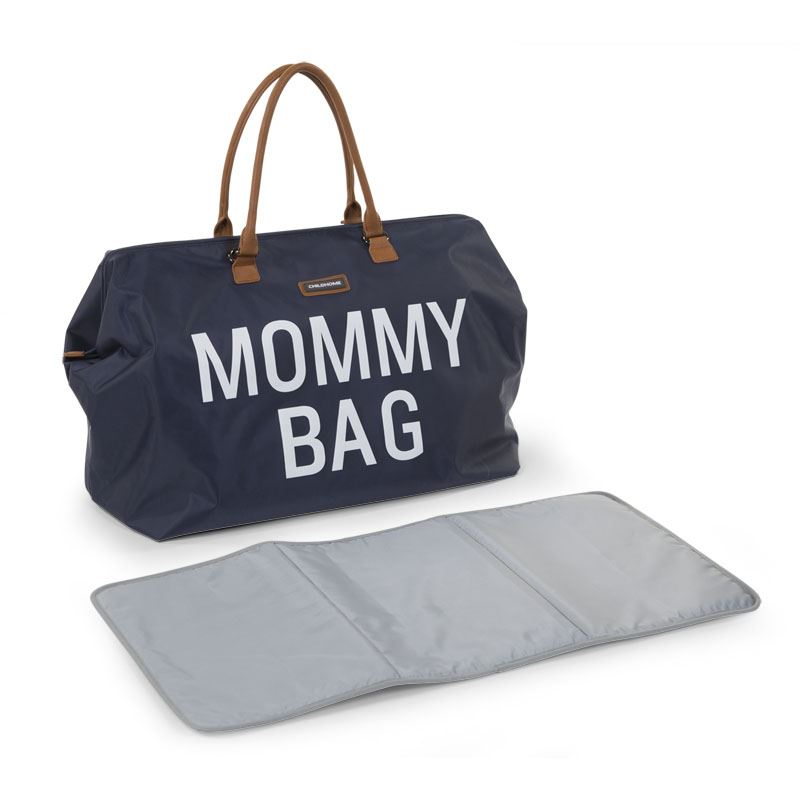 Pusletaske med pusleunderlag, Mommy Bag Navy - Childhome