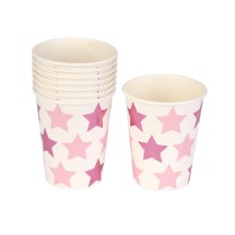 Papkrus 8 stk, - Little Star pink