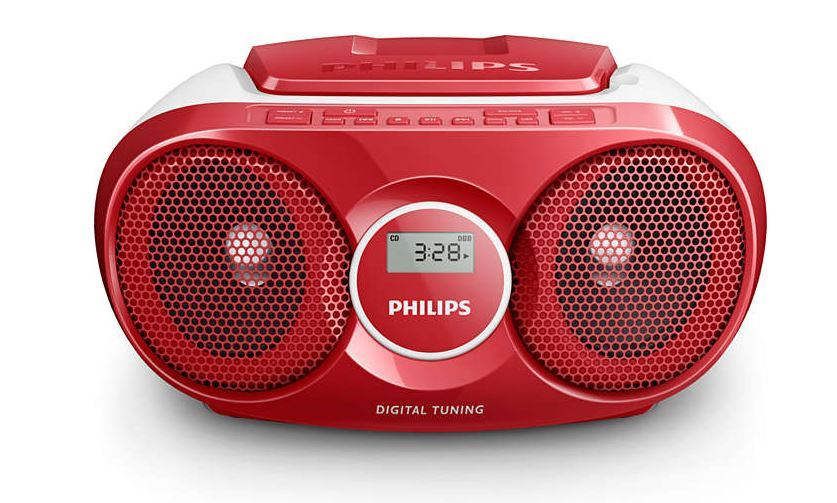 Musikanlæg m. Radio og CD - AZ215C, Rød - Philips