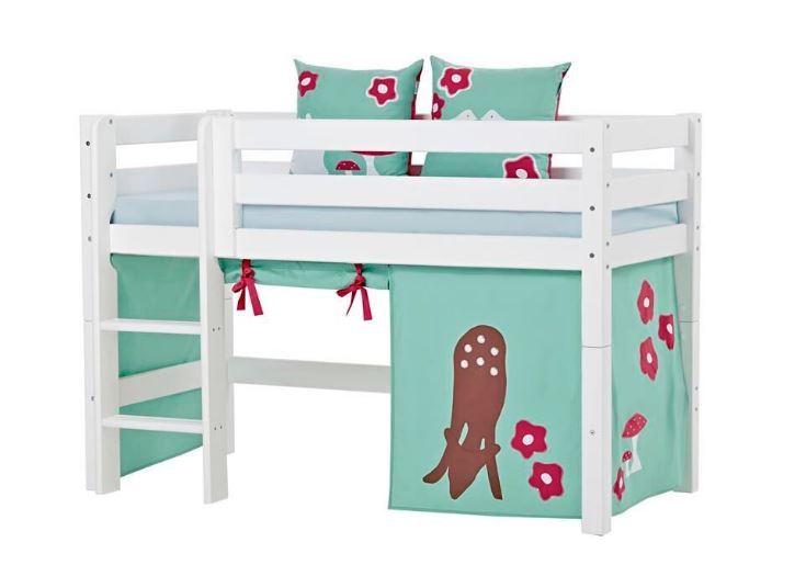 halvhøj seng 160 Halvhøj seng 160 cm, delbar Premium Hoppekids Ekstra robust  halvhøj seng 160