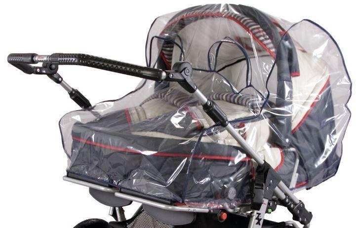 Populære Regnslag til tvillinge barnevogn - klart - Universalt regnslag der ZY46