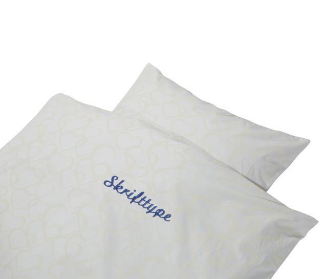 ae117b7c369 Baby sengetøj med navn øko tex certificeret bomuld 💚Babyshower.dk💚