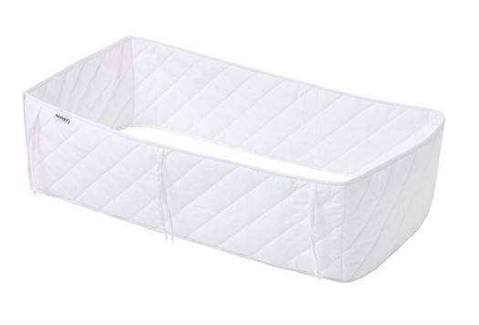 Sengerand tynd, 60x120 cm Quiltet Hvid - Hoppekids thumbnail
