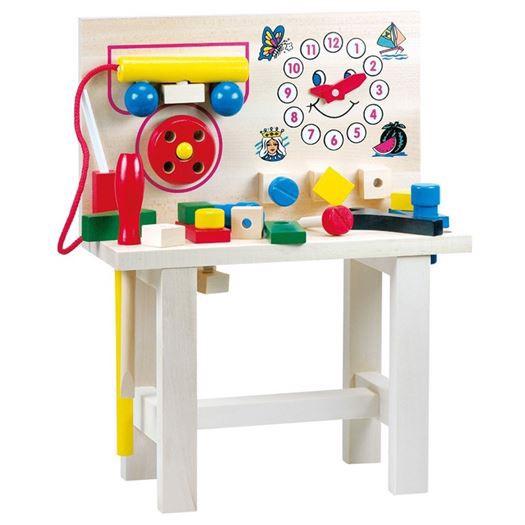 Værktøjsbænk i træ med 20 dele - Bino Toys thumbnail