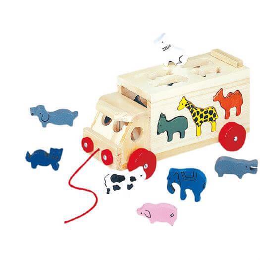 Image of   Aktivitetsbil, Dyr - Bino Toys