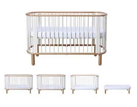 seng til baby Babyseng   Juniorseng   FLEXA   Hvidt design med bøg. 1 seng i 5  seng til baby