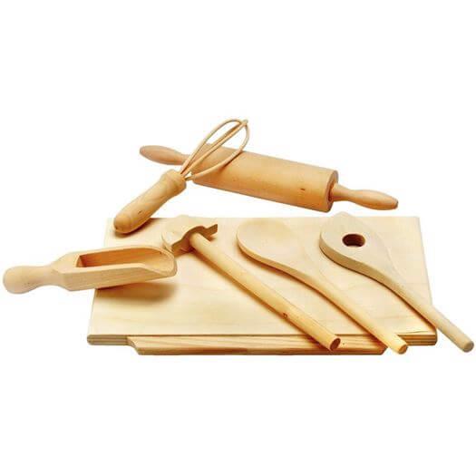 Image of   Bageredskaber, Træ - Bino Toys