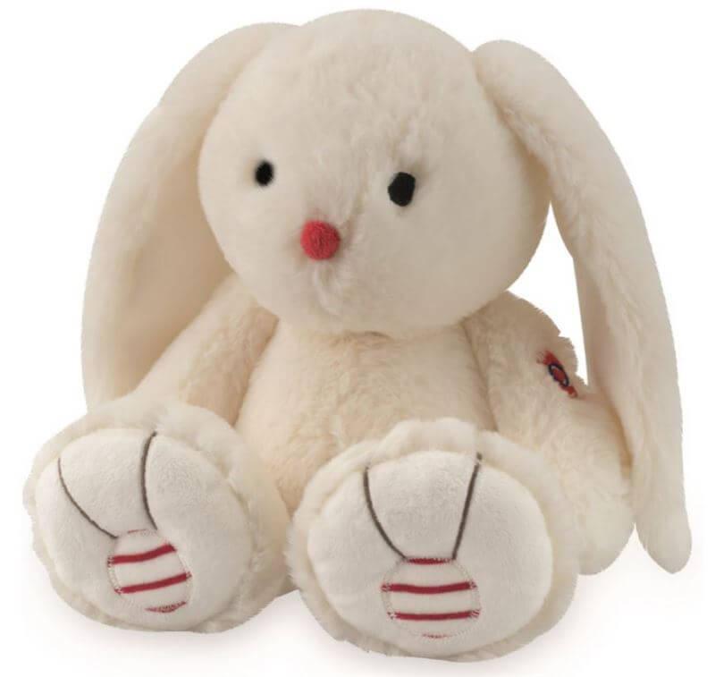 Bamse, Kanin, Hvid 31 cm - Kaloo, skøn blød kanin i lækker kvalitet og som kan sidde selv.