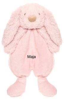 Bamse Lolli Bunnies, lyserød - med navn - Personlig med navn fra Babyshower