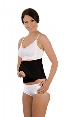 Belly Binder, Økologisk, Sort - Str. L/XL fra Carriwell