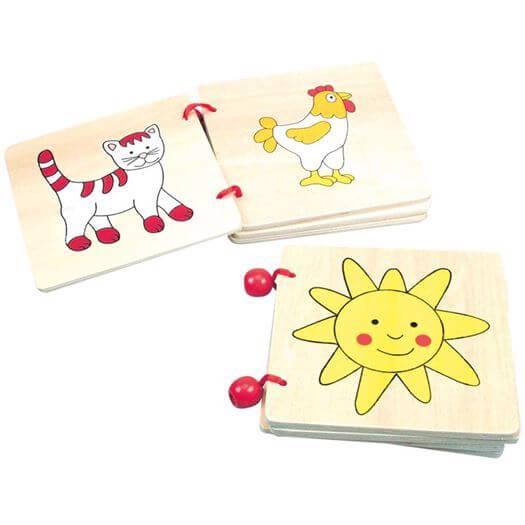 Image of   Billedbog i træ - Bino Toys