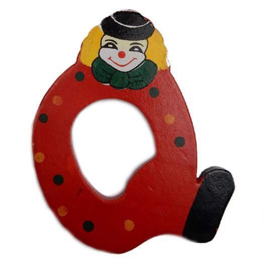 Image of   Bogstav Q, Klovnemotiv - Bino Toys