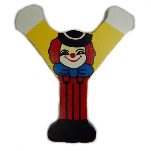 Image of   Bogstav Y, Klovnemotiv - Bino Toys