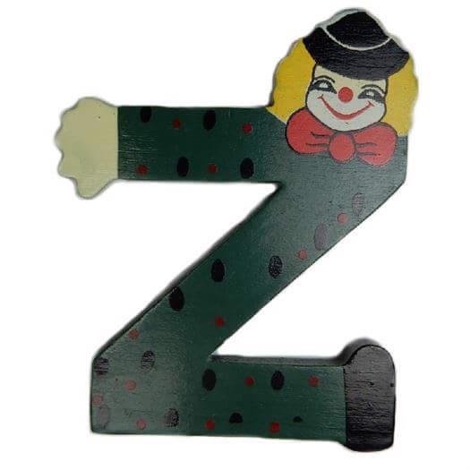 Image of   Bogstav Z, Klovnemotiv - Bino Toys