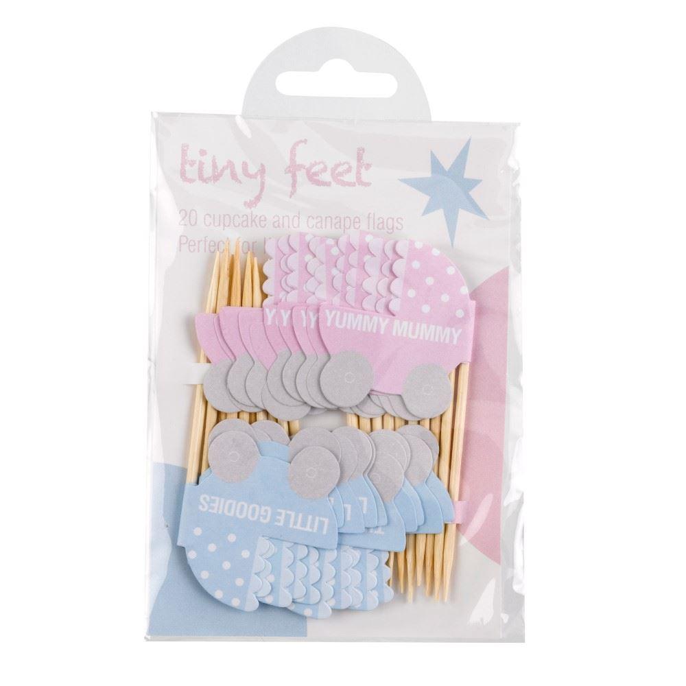 Cupcake pynt - Tiny Feet - Pynt op til din babyshower med stil