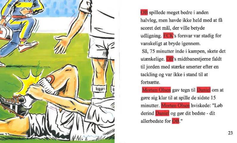 Fodbold-bogen - personlig bog - fra Babyshower