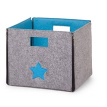 Foldbar box i filt, Turkis - Childhome