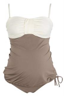 Badedragt til gravide med justerbare stropper