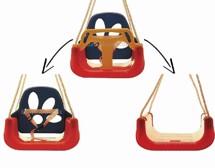 Babygynge med høj ryg, Rød - Krea - babyens første gynge - med god støtte - babyen sidder ...