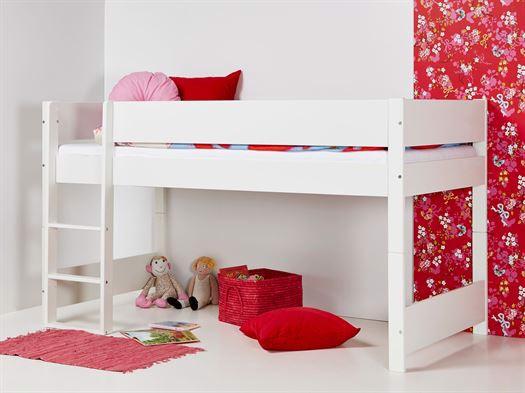 Image of   Huxie Manis-h halvhøj seng, delbar, med lilla madras - 160 cm