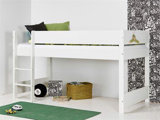 Image of   Huxie Manis-h halvhøj seng, delbar, blå madras - 160 cm