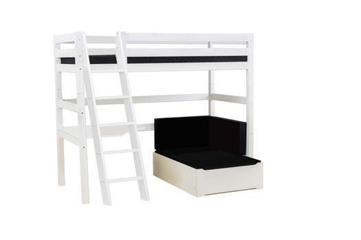 Højseng delbar m. skrå stige, skrivebord og loungemodul, 90x200 cm Premium - Hoppekids thumbnail