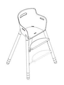 Højstol i hvid - FLEXA - Smuk og stilfuld stol - Anvendelig op til 12 års alderen