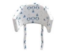 Højstol i bøg og hvid FLEXA Smuk og stilfuld stol