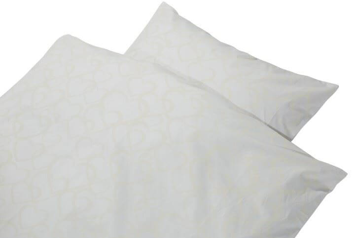 hvidt baby sengetøj