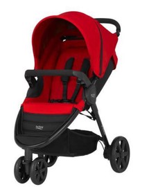 Klapvogn, B-AGILE 3, Flame red - Britax
