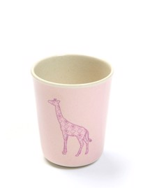 Kop i melamin uden hank, design rose animal fra Smallstuff